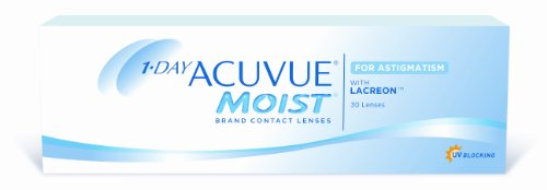 Acuvue 1-Day Moist for Astigmatism Tageslinsen weich, 30 Stück / BC 8.5 mm / DIA 14.5 / CYL -0.75 / Achse 180 / -2.00 Dioptrien