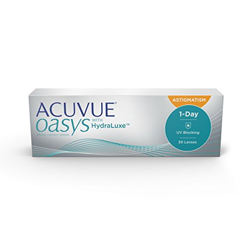 Acuvue Oasys 1-Day for Astigmatism Tageslinsen weich, 30 Stück / BC 8.5 mm / DIA 14.3 mm / CYL -0.75 / ACHSE 90 / +3.5 Dioptrien