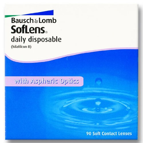 Bausch & Lomb SofLens daily disposable Tageslinsen weich, 90 Stück/BC 8.60 mm/DIA 14.20 mm/-02.50 Dioptrien